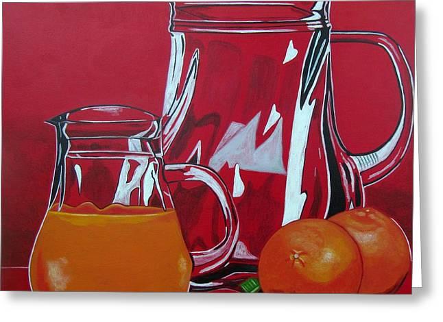 Sandra Marie Adams Greeting Cards - Orange Juggle Greeting Card by Sandra Marie Adams