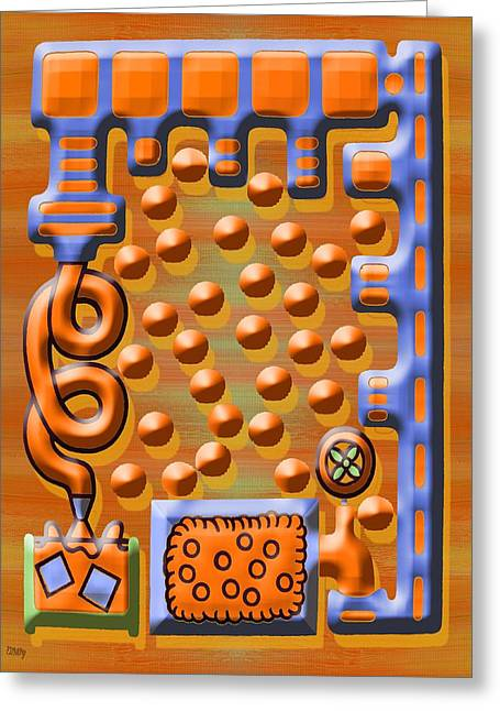Harvest Mixed Media Greeting Cards - Orange Juice Factory Greeting Card by Patrick J Murphy