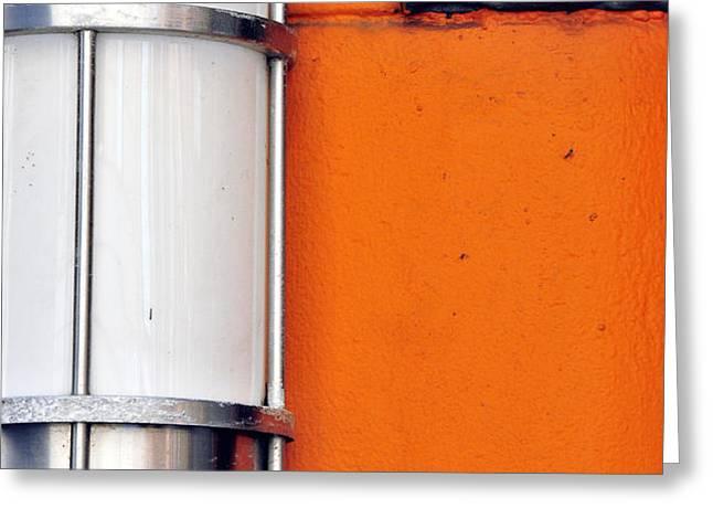 Orange Lite Greeting Card by Jamie Klock
