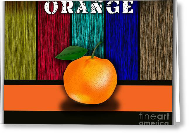 Tree Branch Greeting Cards - Orange Greeting Card by Marvin Blaine