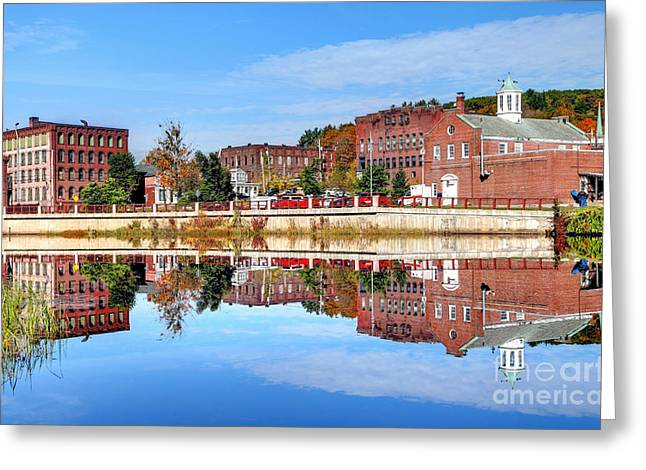 New England Village Greeting Cards - Orange Massachusetts Greeting Card by Denis Tangney Jr