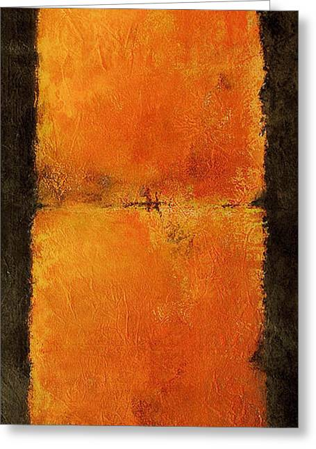 Illuminate Greeting Cards - Orange Meiosis I Greeting Card by Kaata  Mrachek