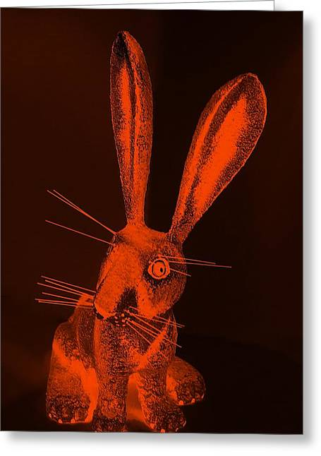 Bugs Bunny Greeting Cards - Orange New Mexico Rabbit Greeting Card by Rob Hans