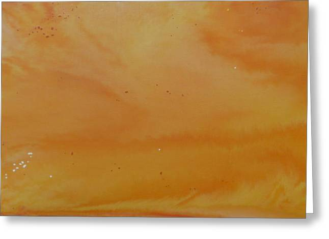 Creativ Greeting Cards - Orange Painting Greeting Card by Ste Bi