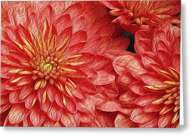 Tangerine Greeting Cards - Orange Petals Greeting Card by Jaki Miller