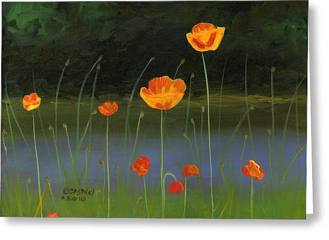 Cecilia Brendel Greeting Cards - Orange Poppies Greeting Card by Cecilia  Brendel