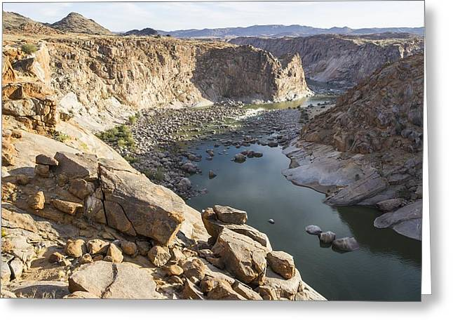 Northern Africa Greeting Cards - Orange River Gorge, South Africa Greeting Card by Science Photo Library