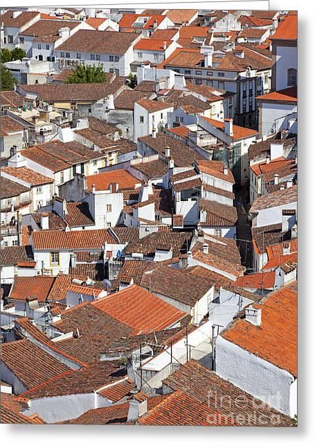 Birdseye Greeting Cards - Orange Roofs Greeting Card by Jose Elias - Sofia Pereira