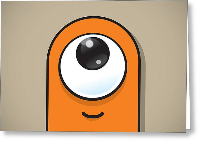 Mascots Greeting Cards - Orange Greeting Card by Samuel Whitton