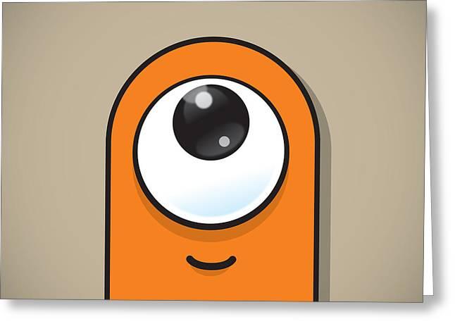 Eyeballs Greeting Cards - Orange Greeting Card by Samuel Whitton