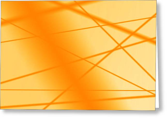 Dream Scape Greeting Cards - Orange Greeting Card by Sir Josef  Putsche