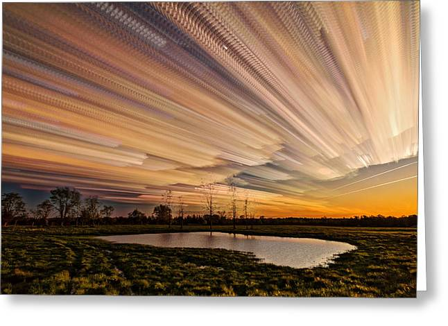 Orange Sky Greeting Card by Matt Molloy