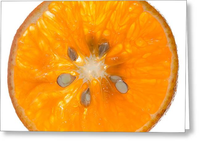 Slices Greeting Cards - Orange Slice Greeting Card by Steve Gadomski