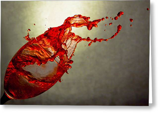 Water Into Wine Greeting Cards - Orange Splash 2 Greeting Card by Mary Martin