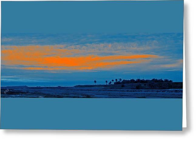 Orange Sunset Greeting Card by Ben and Raisa Gertsberg