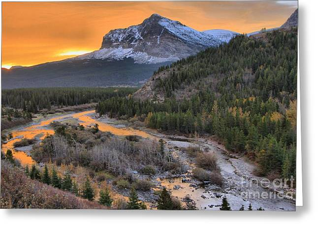Many Greeting Cards - Orange Swiftcurrent Creek Greeting Card by Adam Jewell