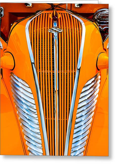 Living Life Photography Greeting Cards - Orange Terraplane Greeting Card by Carolyn Marshall