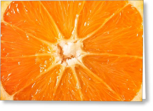 Tangy Photographs Greeting Cards - Orange  Greeting Card by Tom Gowanlock