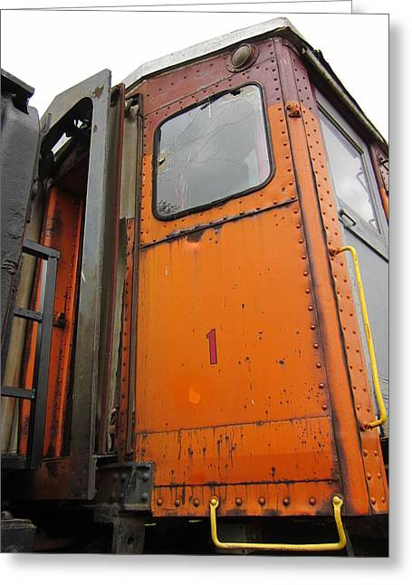 Guy Ricketts Photography Greeting Cards - Orange Train Car No. 1 Greeting Card by Guy Ricketts