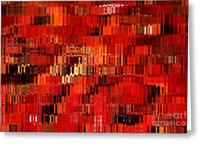 Carol Groenen Abstracts Greeting Cards - Orange Under Glass Abstract Greeting Card by Carol Groenen