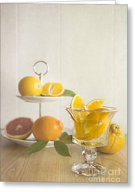 Tangerine Greeting Cards - Orangeade 2 Greeting Card by Elena Nosyreva
