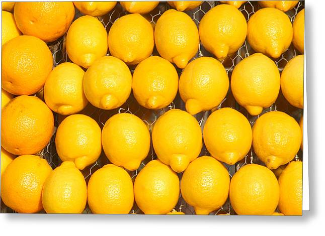 Oranges And Lemons Greeting Card by Art Block Collections