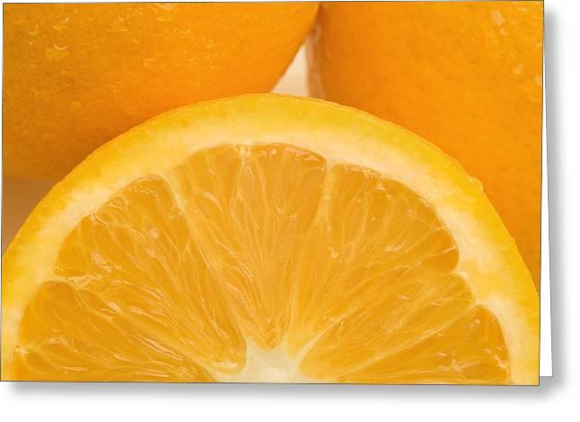 Oranges Greeting Card by Darren Greenwood