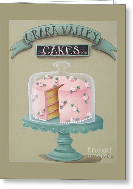 Cake Stand Greeting Cards - Orara Valley Cakes Greeting Card by Catherine Holman
