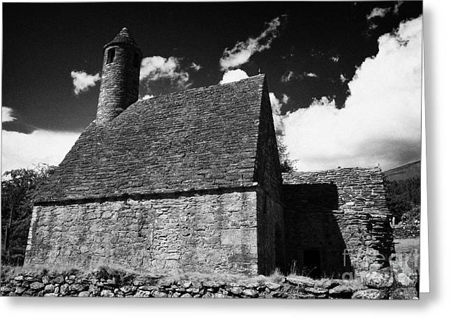 Significance Greeting Cards - Oratory known as St Kevins kitchen at glendalough monastic site Greeting Card by Joe Fox