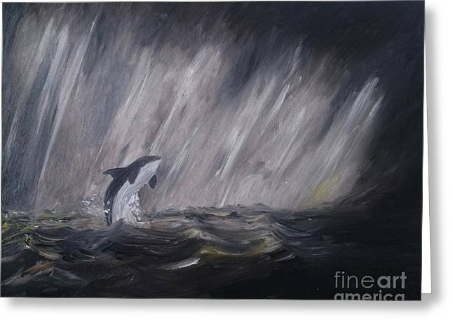 Killer Whale Greeting Cards - Orca Greeting Card by Isabella F Abbie Shores LstAngel Arts