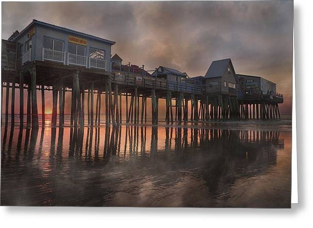 Old Maine Houses Greeting Cards - Orchard Beach Glorious Morning Greeting Card by Betsy A  Cutler