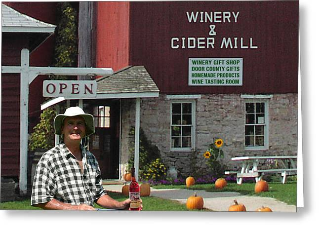 Wine Scene Greeting Cards - Orchard Country Winery Greeting Card by Doug Kreuger