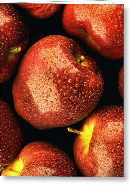 Fall Turnover Greeting Cards - Orchard Fresh Greeting Card by Tom Druin