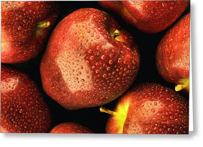 Tom Druin Greeting Cards - Orchard Fresh Greeting Card by Tom Druin