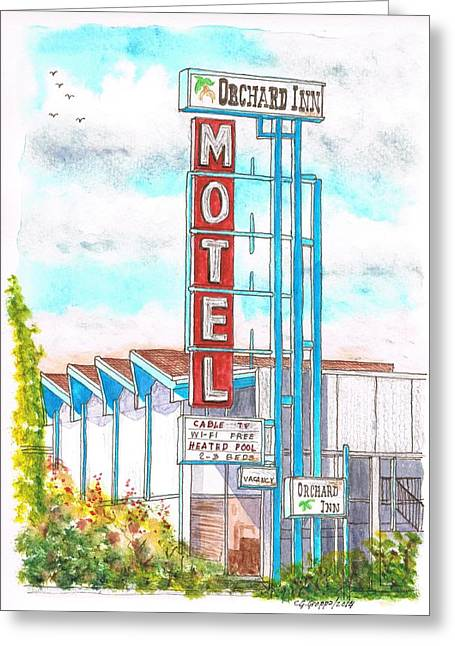 Devine Greeting Cards - Orchard Inn Motel in Route 66 Andy Devine Ave - Kingman - Arizona Greeting Card by Carlos G Groppa