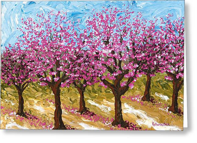 Orchards Prints Greeting Cards - Orchard Greeting Card by Katherine Young-Beck