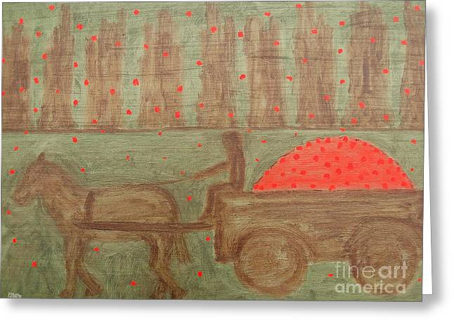Fruit Tree Art Greeting Cards - Orchard Greeting Card by Patrick J Murphy