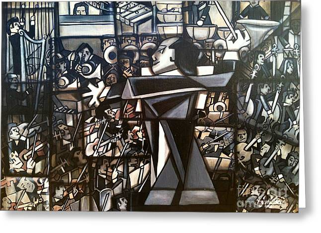 3-d Glasses Greeting Cards - Orchestra Greeting Card by Ruben Archuleta - Art Gallery
