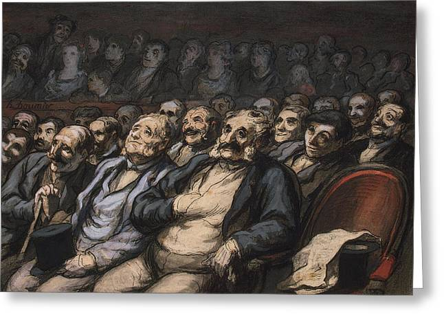 Concentrate Greeting Cards - Orchestra Seat Greeting Card by Honore Daumier