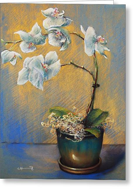 Warm Pastels Greeting Cards - Orchid 3 Greeting Card by Cecile Houel