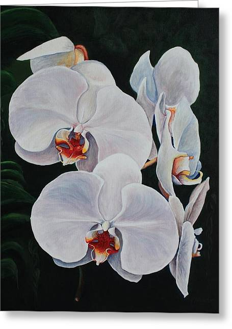 Pam Kaur Greeting Cards - Orchid Fever Greeting Card by Pam Kaur