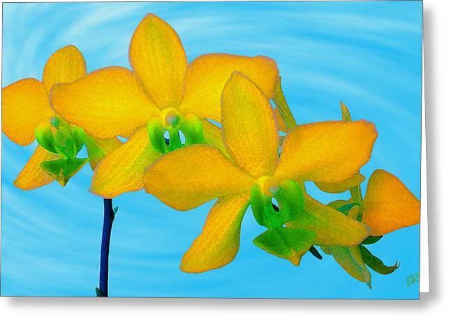 Colorful Orchid Greeting Cards - Orchid In Yellow Greeting Card by Ben and Raisa Gertsberg