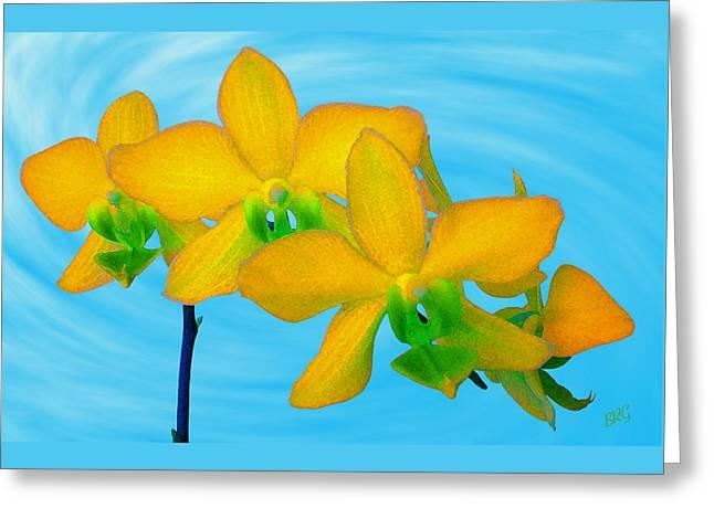Gertsberg Greeting Cards - Orchid In Yellow Greeting Card by Ben and Raisa Gertsberg