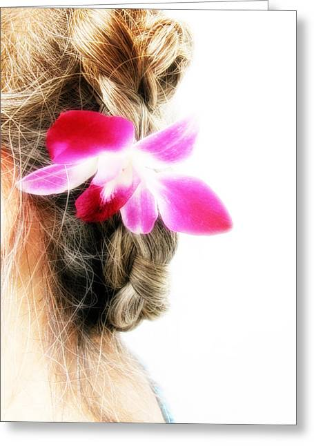 Braided Updo Greeting Cards - Orchid Lady Greeting Card by Randi Kuhne
