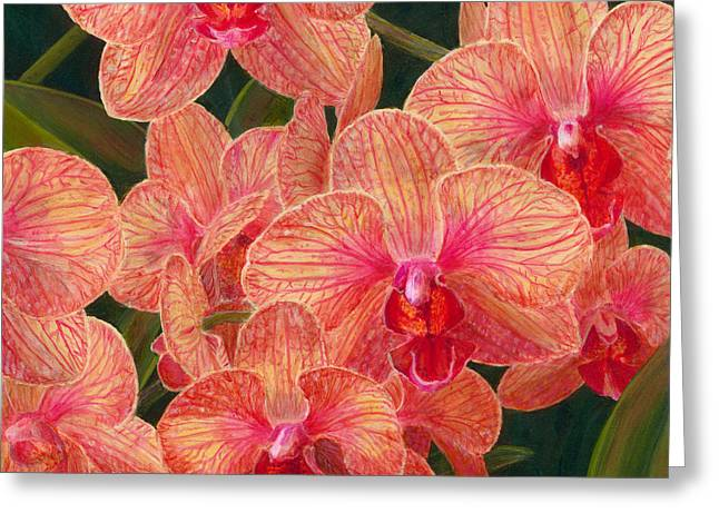 Orchid Show Greeting Cards - Orchid #5 Greeting Card by Barbara L Clark