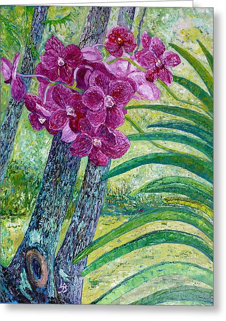 Orchid Show Greeting Cards - Orchid Show Greeting Card by Linda J Bean