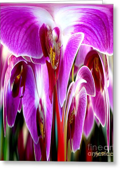 Jeff Mcjunkin Greeting Cards - Orchid Splat Greeting Card by Jeff McJunkin