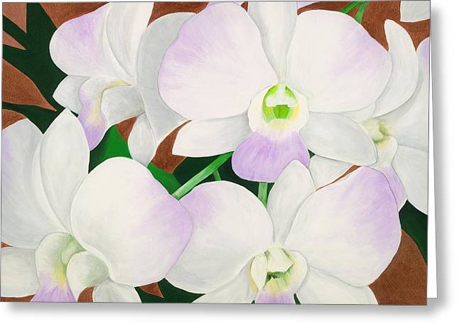 Lisa Bentley Greeting Cards - Orchid Splendor Painting Greeting Card by Lisa Bentley