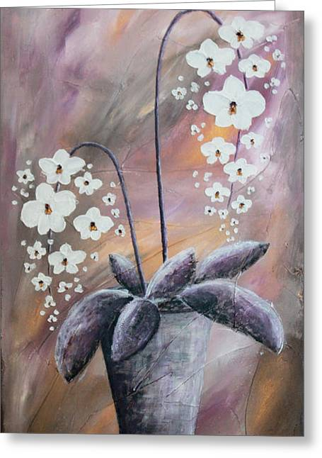 Home Art Greeting Cards - Orchids Greeting Card by Home Art