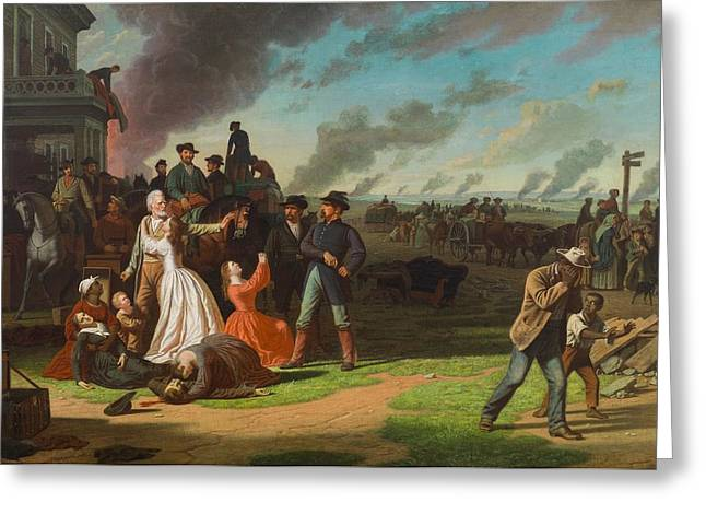 Unfair Greeting Cards - Order No. 11, 1865-70 Oil On Canvas Greeting Card by George Caleb Bingham
